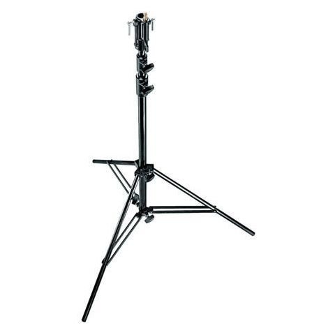 Manfrotto 10.6' Plated Senior Steel Stand with Leveling Leg, Black  by Manfrotto