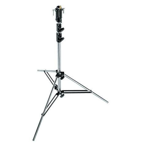 Manfrotto 3-Section Senior Light Stand with Leveling Leg, 10.6' (3.2m), Chrome Steel  by Manfrotto