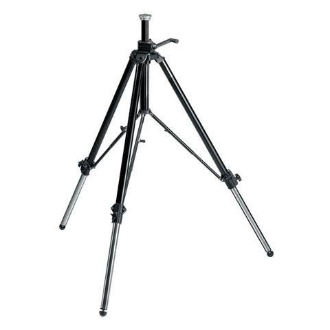 """Manfrotto Geared Video / Movie Professional Aluminum Tripod with Mid Level Spreader, Supports 39 lbs., Maximum Height 68"""", Black  by Manfrotto"""