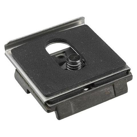 """Manfrotto 200PLARCH38 Anti Twist Plate 3/8"""" with an Additional Lip to Prevent Camera Twist (3157ANR)  by Manfrotto"""