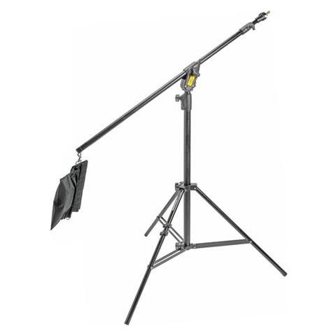 Manfrotto Boom Stand 420 (Black Anodized), 3-Section Stand Convertible to Double Extension Boom and Stand, with Sand Bag (#3397B)  by Manfrotto