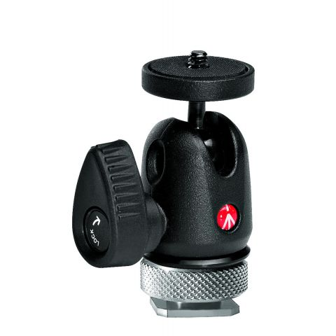Manfrotto 492LCD Ball Head with Hot Shoe Mount, Supports 2kg, 4.4lbs.  by Manfrotto