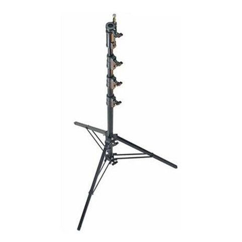 Avenger 14.76' Aluminum Black Combo Stand 45 with 3 Risers, 4 Sections and 1 Leveling Leg  by Avenger