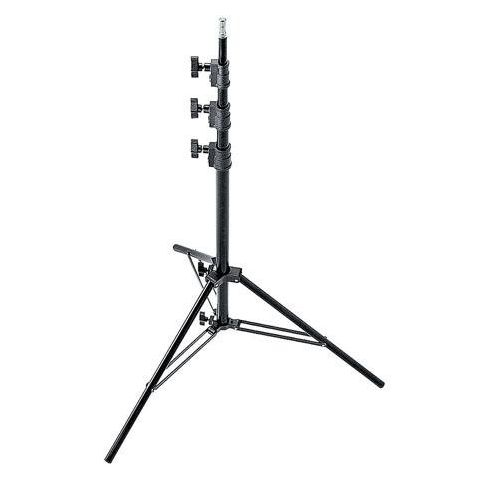 "Avenger 10'8"" Black Anodized Aluminum Midi-Max Kit Lightstand, with 4 Risers / 5/8"" Mounting Stud.  by Avenger"
