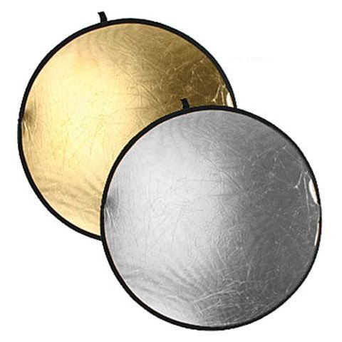 "Bowens 32"" Diameter Collapsible Reflector Disc - Gold / Silver  by Bowens"