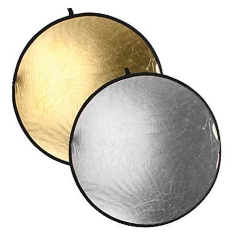"Bowens 42"" Diameter Collapsible Reflector Disc - Gold / Silver  by Bowens"