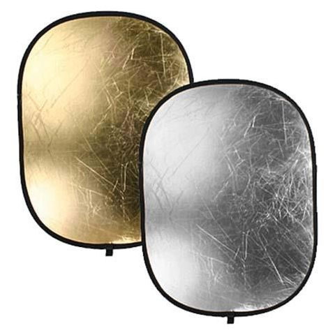 "Bowens 36x48"" Collapsible Oval Reflector Disc - Gold / Silver  by Bowens"