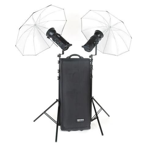 Bowens Gemini 500R/500R Studio Kit (PocketWizard Compatible) with Two 500 watt Second Monolights, Umbrellas, Stands & Carry Bag,  by Bowens