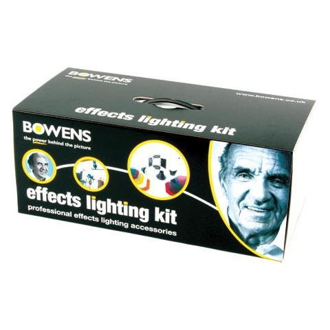 Bowens Effects Lighting Accessory Kit with Snoot, Barndoor & Gels.  by Bowens