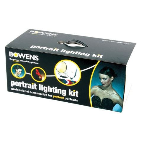 Bowens Portrait Lighting Accessory Kit with Softbox, Grids & Gels  by Bowens