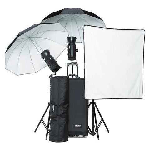 Bowens Gemini 500R (x3) Light Kit, Includes 3 Gemini 500R Monolight (PocketWizard Compatible), Umbrellas, Softbox, Lightstands  by Bowens