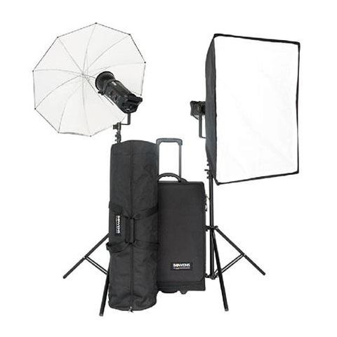 "Bowens Gemini 500 Pro 2 Monolight Kit, with 2 Gemini 500 Ws Gemini 500Pro Monolights, 2 Light Stands, Umbrella, 24x32"" Softbox, Trolly Case, Pulsar TX Kit - PocketWizard Compatible  by Bowens"