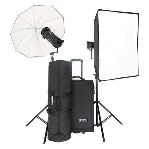 Bowens Gemini 750 Pro 2 Monolight Kit, with 2 Gemini 750 WS Monolights, Light Stands, Umbrella, Softbox & Trolly Case - PocketWizard Compatible  by Bowens
