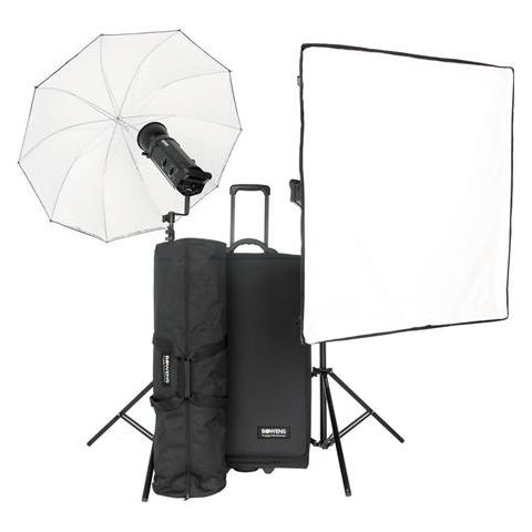 Bowens Gemini 1000Pro 2 Monolight Kit, Stand Bag, Trolley Case, 2 Flash Tube, 2 250W Modeling Lamp & 2 Power Cord - PocketWizard Compatible  by Bowens