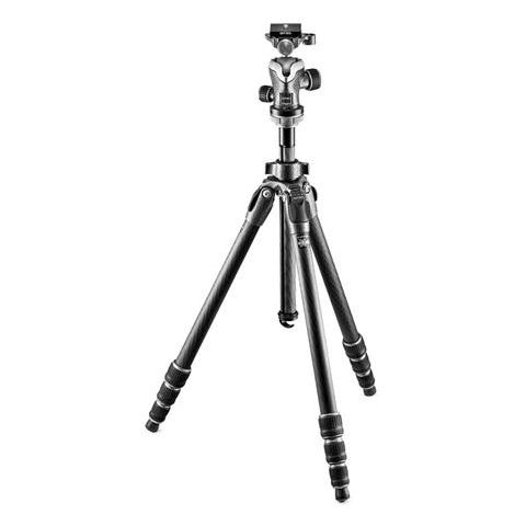 "Gitzo Mountaineer Series 1 GT1542 Carbon Fiber Tripod with GH1382QD Center Ball Head, 67.32"" Maximum Height, 22lb Capacity  by Gitzo"