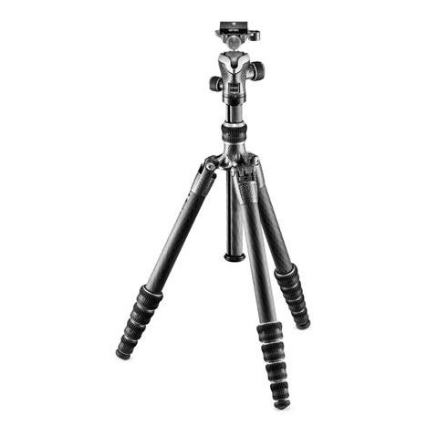 Gitzo GK1555T-82TQD Series 1 Traveler Tripod - 5 Section - with GH1382TQD Quick Release Center Ball Head  by Gitzo