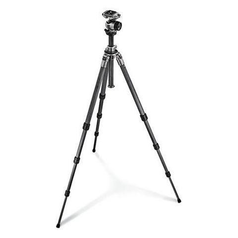 "Gitzo Gitzo GK1580QR Series 1 4-Section Carbon Fiber Tripod with Ballhead and Rapid Column, Maximum Height 66"", Supports 15 lbs.  by Gitzo"