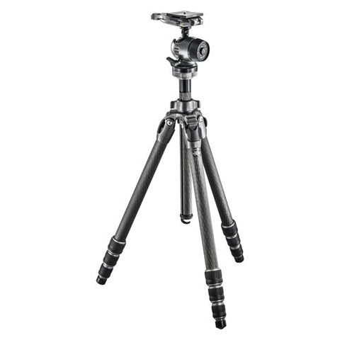 Gitzo GK2542-80QD Mountaineer Series 2 Carbon Fiber 4 Sections Tripod Kit, Includes Centre Ball Head, Arca-Swiss Style Plate, 30.86lbs Load Capacity  by Gitzo