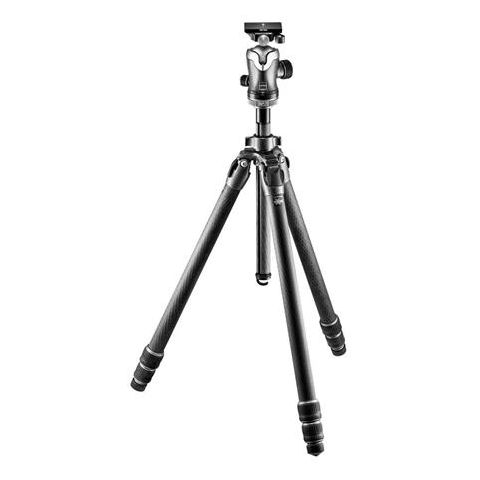 "Gitzo Mountaineer Series 3 GT3532 Carbon Fiber Tripod with GH3382QD Center Ball Head, 68.9"" Maximum Height  by Gitzo"