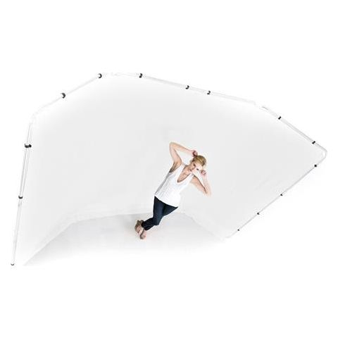 Lastolite Panoramic 13' Background Fabric for Frames, White (Frame Not Included)  by Lastolite