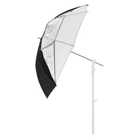 "Lastolite 28"" Small All in One Umbrella with 8mm Shaft, Translucent, Silver/White  by Lastolite"