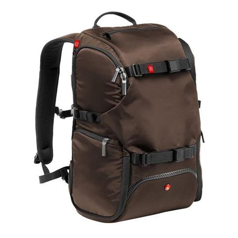 """Manfrotto Advanced Travel Backpack, 13"""" Laptop Compartment, External Tripod Connections, Brown  by Manfrotto"""