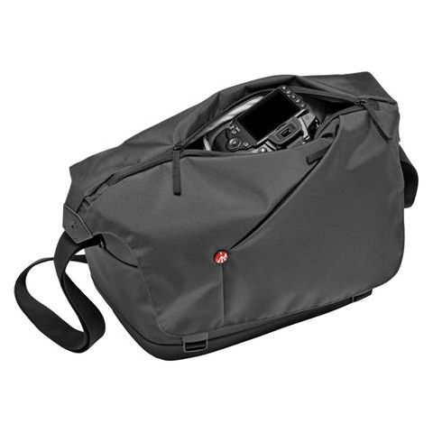 Manfrotto NX Messenger Bag for DSLR with Lens and Personals Compartment, Grey  by Manfrotto