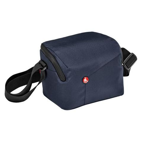 Manfrotto NX Shoulder Bag for CSC Mirrorless Camera with Additional Lens, Blue  by Manfrotto