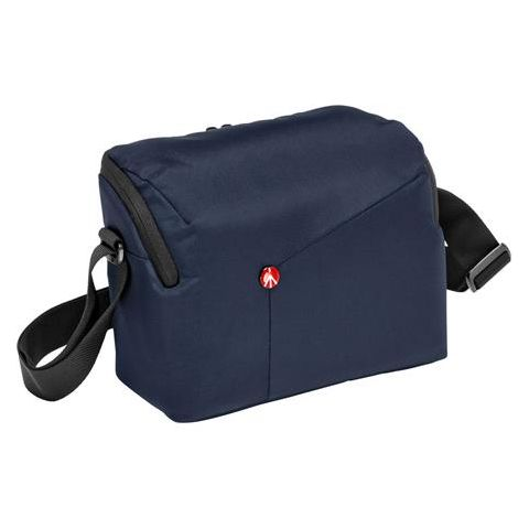 Manfrotto NX Shoulder DSLR Bag for DSLR Camera with Additional Lens Capacity, Blue  by Manfrotto