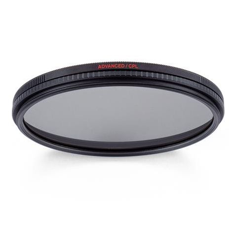 Manfrotto MFADVCPL-62 62mm Advanced Circular Polarizing Filter, 12 Coating Layers, Anti-reflective Coating, Water Repellent  by Manfrotto
