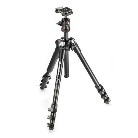 Manfrotto MKBFRA4-BH BeFree Compact Travel Aluminum Alloy Tripod, Black  by Manfrotto