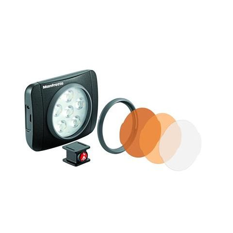 Manfrotto Lumie Art On-Camera LED Light, 5600deg. K Color Temperature, Black  by Manfrotto