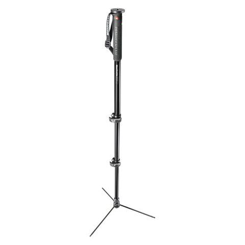 "Manfrotto XPRO Prime Base Aluminum Monopod, 3 Sections, 66"" Max Height  by Manfrotto"