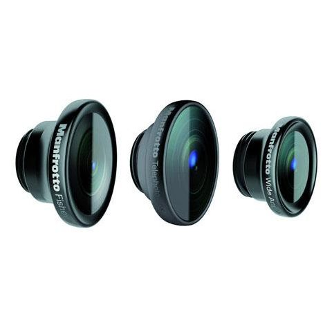 Manfrotto Set of 3 Lenses (Fisheye, Portrait 1.5x, Wide Angle) for KLYP+ iPhone 5/5s Bumper Case  by Manfrotto