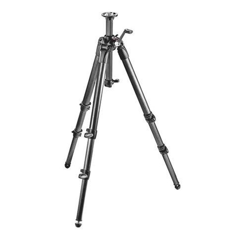 """Manfrotto 057 3-Section Carbon Fiber Tripod with Geared Column, Max Height 61"""", Supports 26 lbs.  by Manfrotto"""