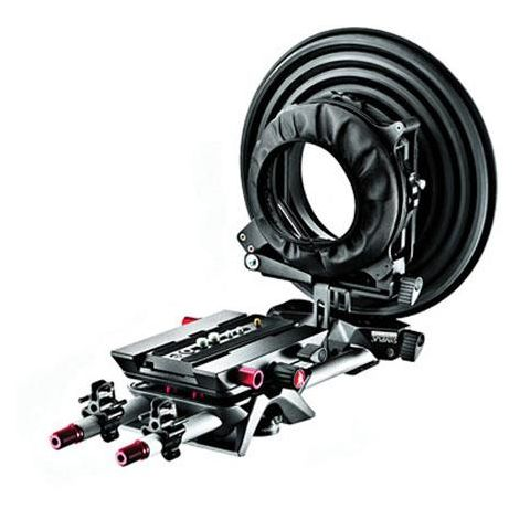 """Manfrotto MVA512WK-1 Sympla Flexible Mattebox System, Includes Flexible Mattebox, Variable Plate, MVA520W-1 11.8"""" SYMPLA Rods (Pair), SYMPLA Clips  by Manfrotto"""