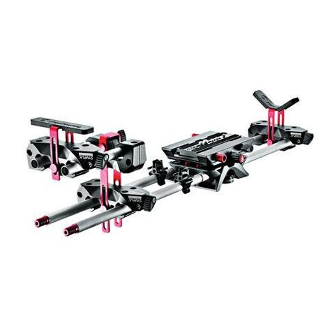 Manfrotto MVA513WK-1 Sympla Long Lens Support System, Includes 4x 300mm Rods, Variable Plate, V-Offset, 2x 150mm Rods, 2x Clips  by Manfrotto