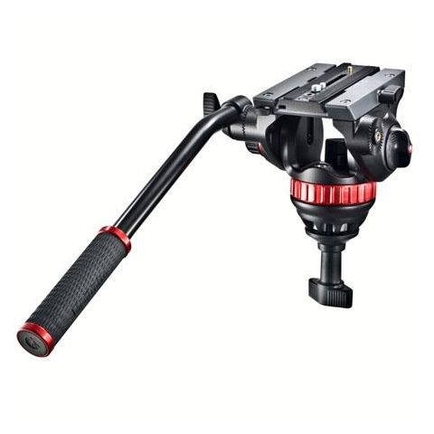 Manfrotto MVH502A Pro Video Head with Quick-Release and 75mm Half-Ball, Supports 8 lbs.  by Manfrotto