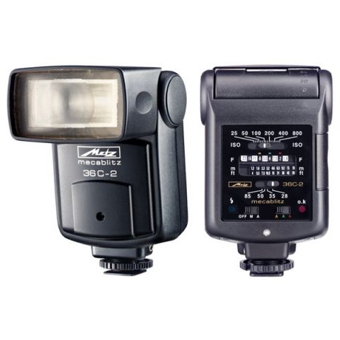 Metz 36 Series C-2 Auto Aperture Manual Shoe Mount Flash, Non-Dedicated, Guide Number 118, ISO 100'.  by Metz