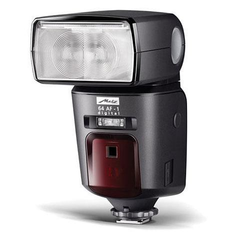 Metz Mecablitz 64 AF-1 digital Flash for Nikon Cameras, 24 to 200mm Automatic Zoom, Guide Number 210'  by Metz