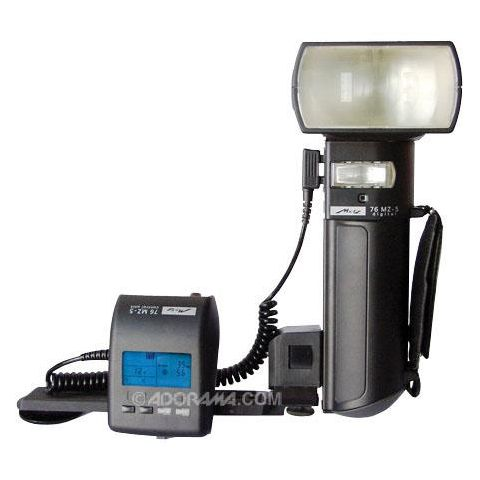 Metz 76 Series MZ-5, Digital Handlemount TTL Flash with NiMH Battery and Charger, Guide Number 250, ISO 100'.  by Metz