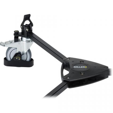 Miller 483 Studio Dolly with Cable Guards and Tracking Locks - for Sprinter and HD Tripods by Miller