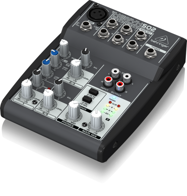 Behringer XENYX 502 5 Channel Compact Audio Mixer By