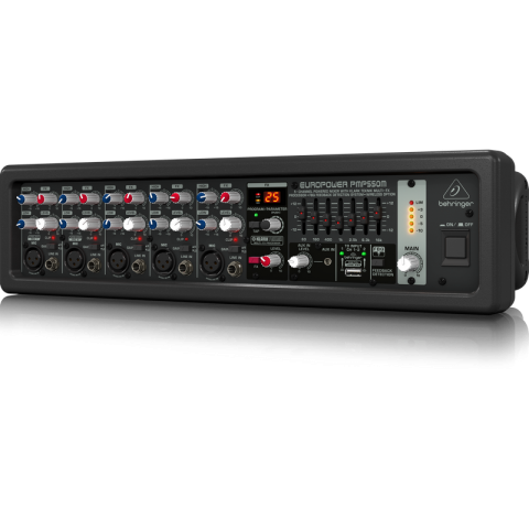 Behringer Europower PMP550M 500-Watt 5-Channel Powered Rackmount Mixer by Behringer
