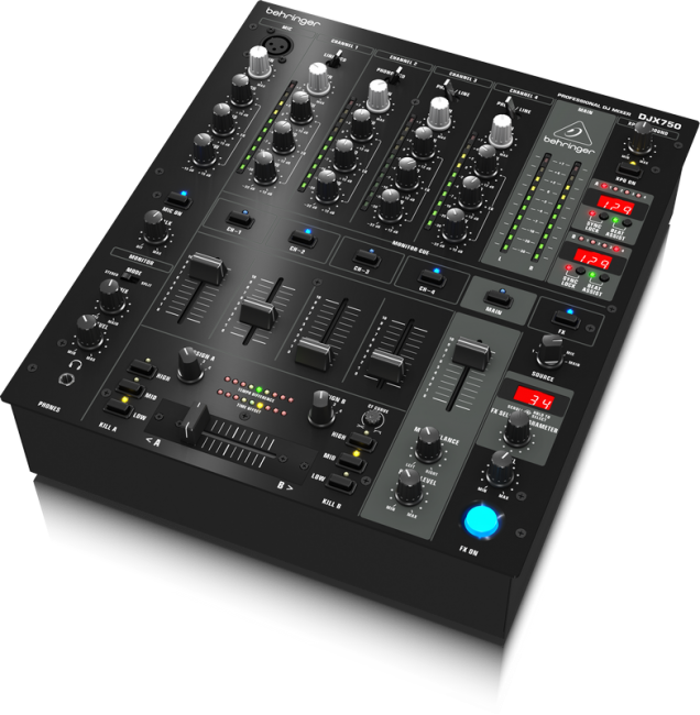 Behringer DJX 750 Professional 5 Channel DJ Mixer By