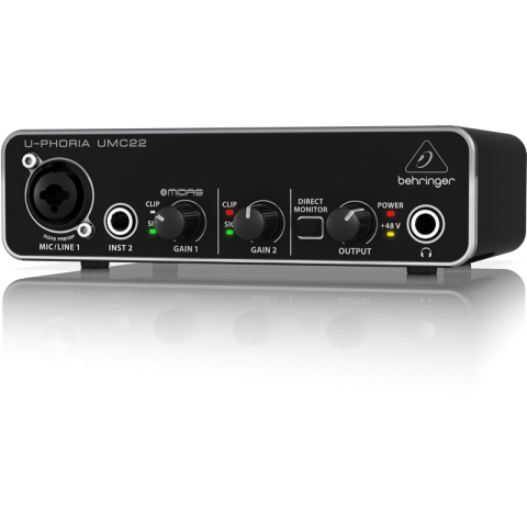 Behringer U-PHORIA UMC22 2x2 USB Audio Interface by Behringer