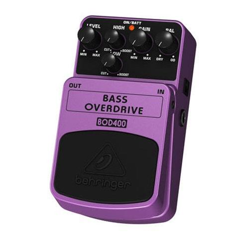 Behringer Bass Overdrive Stompbox Effects Pedal, 9V Battery Power  by Behringer