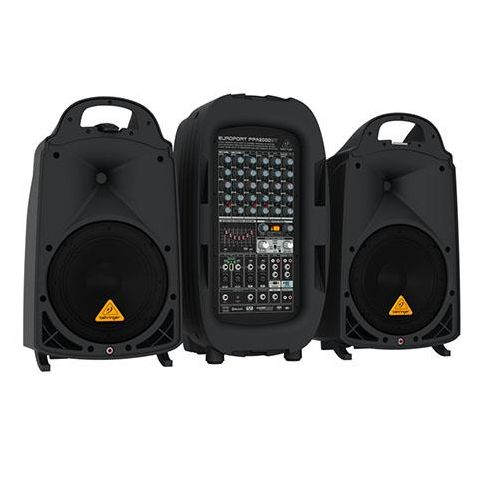 Behringer Europort PPA2000BT Ultra-Compact 2000-Watt 8-Channel Portable PA System with Bluetooth Technology, Wireless Microphone Option  by Behringer