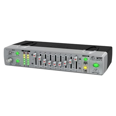 Behringer Mini FBQ FBQ800 Compact 9-Band Graphic Equalizer with Feedback Detection System, 2 Channel, 10Hz-200kHz System Frequency response  by Behringer