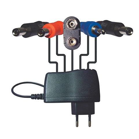 Behringer PSU-HSB-ALL Power Adapter with Daisy Chain Connectors and Jumper Cables and All-Country Mains Adapter, DC 9 V/1.7 A  by Behringer